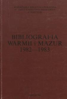 Bibliografia Warmii i Mazur 1982-1983