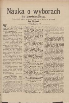 Nauka o wyborach do parlamentu : na podstawie ustawy wyborczej i najnowszego regulaminu opracował Jan Brejski, redaktor w Toruniu