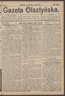 Gazeta Olsztyńska, 1903, nr 54