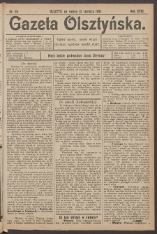 Gazeta Olsztyńska, 1903, nr 69