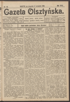 Gazeta Olsztyńska, 1903, nr 110