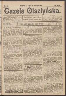 Gazeta Olsztyńska, 1903, nr 111