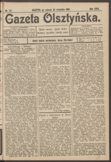 Gazeta Olsztyńska, 1903, nr 112