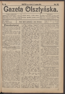 Gazeta Olsztyńska, 1904, nr 38