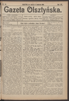 Gazeta Olsztyńska, 1904, nr 45