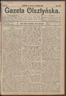 Gazeta Olsztyńska, 1904, nr 48