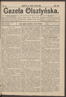 Gazeta Olsztyńska, 1904, nr 84
