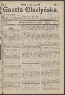 Gazeta Olsztyńska, 1905, nr 15