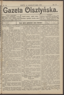 Gazeta Olsztyńska, 1905, nr 38