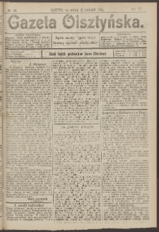 Gazeta Olsztyńska, 1905, nr 45