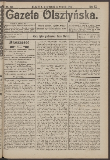 Gazeta Olsztyńska, 1905, nr 109