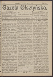 Gazeta Olsztyńska, 1906, nr 61