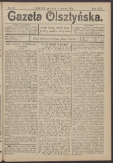 Gazeta Olsztyńska, 1906, nr 67