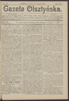 Gazeta Olsztyńska, 1906, nr 134