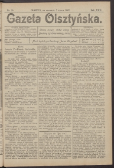 Gazeta Olsztyńska, 1907, nr 29