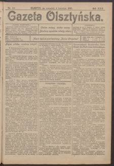 Gazeta Olsztyńska, 1907, nr 40