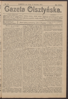 Gazeta Olsztyńska, 1907, nr 44