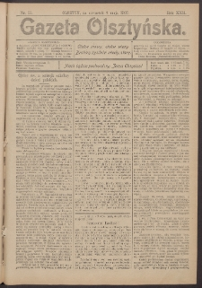 Gazeta Olsztyńska, 1907, nr 55