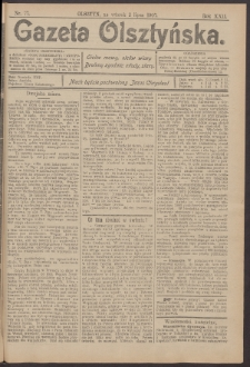 Gazeta Olsztyńska, 1907, nr 77