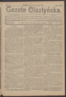 Gazeta Olsztyńska, 1907, nr 79