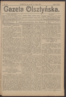 Gazeta Olsztyńska, 1907, nr 85