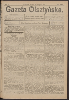 Gazeta Olsztyńska, 1907, nr 98
