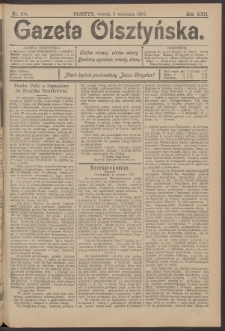 Gazeta Olsztyńska, 1907, nr 104