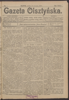 Gazeta Olsztyńska, 1908, nr 5