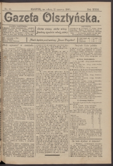 Gazeta Olsztyńska, 1908, nr 69