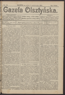 Gazeta Olsztyńska, 1908, nr 116