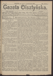 Gazeta Olsztyńska, 1908, nr 117