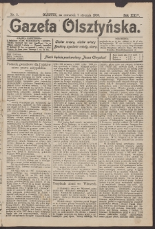 Gazeta Olsztyńska, 1909, nr 3