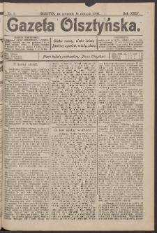 Gazeta Olsztyńska, 1909, nr 6