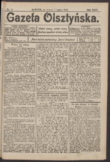 Gazeta Olsztyńska, 1909, nr 27