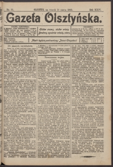 Gazeta Olsztyńska, 1909, nr 33