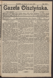 Gazeta Olsztyńska, 1909, nr 34