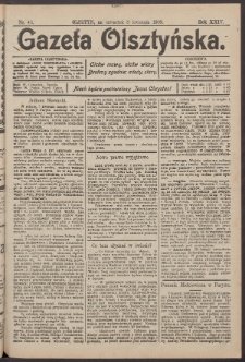 Gazeta Olsztyńska, 1909, nr 43
