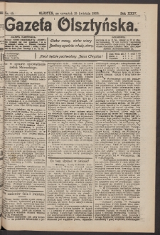 Gazeta Olsztyńska, 1909, nr 45