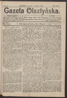 Gazeta Olsztyńska, 1909, nr 46