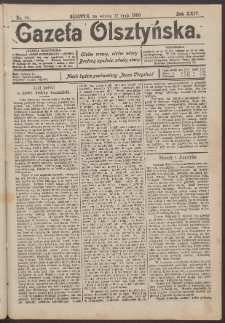 Gazeta Olsztyńska, 1909, nr 60