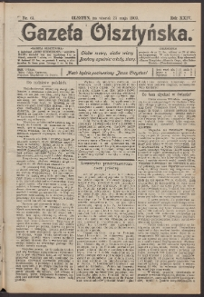 Gazeta Olsztyńska, 1909, nr 61