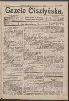 Gazeta Olsztyńska, 1909, nr 70