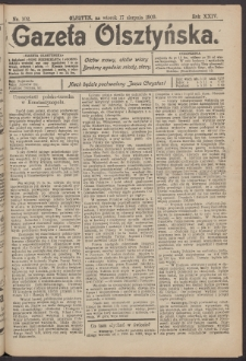 Gazeta Olsztyńska, 1909, nr 102