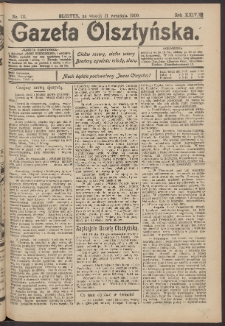 Gazeta Olsztyńska, 1909, nr 111