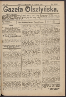 Gazeta Olsztyńska, 1909, nr 133