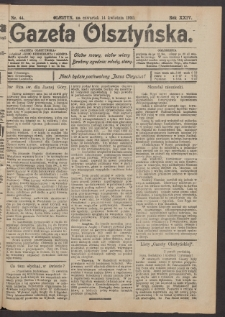 Gazeta Olsztyńska, 1910, nr 44