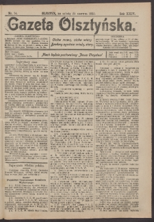 Gazeta Olsztyńska, 1910, nr 74