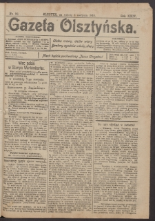 Gazeta Olsztyńska, 1910, nr 92