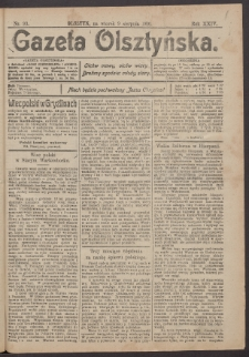 Gazeta Olsztyńska, 1910, nr 93