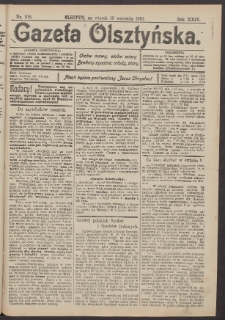 Gazeta Olsztyńska, 1910, nr 108